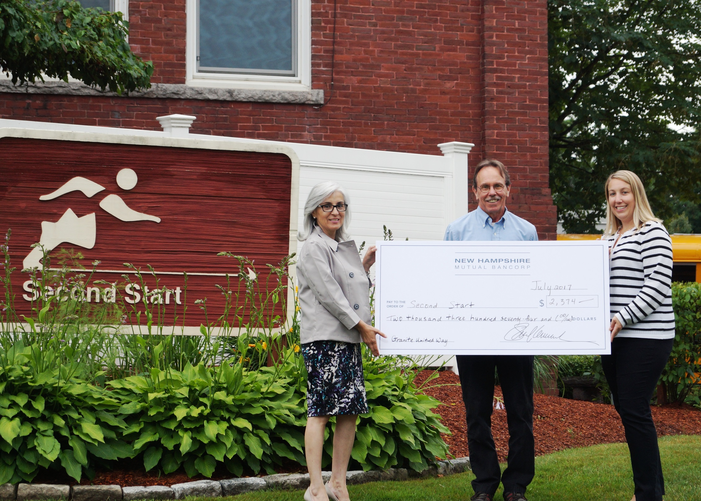 NHMB Donates to Second Start