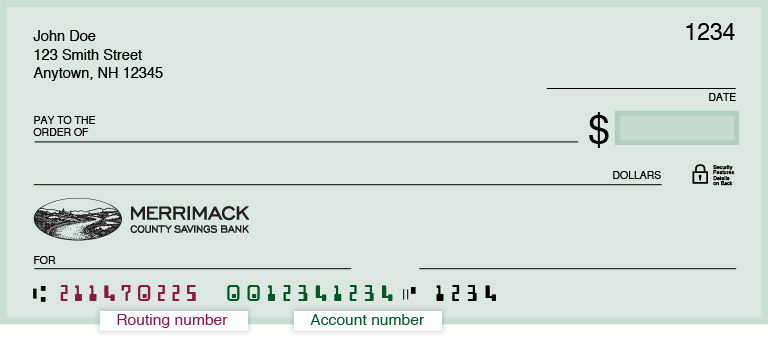 Routing Number - Merrimack County Savings Bank